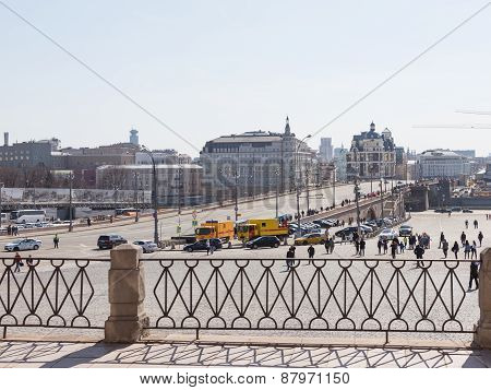 View Of The Grand Moskvoretsky Bridge