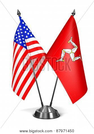 USA and Isle Man - Miniature Flags.