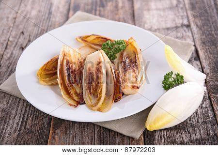 fried chicory