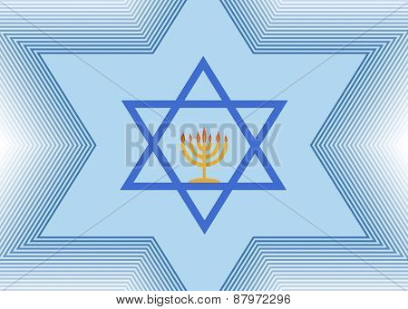 The Star of David and Menorah