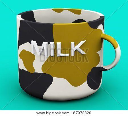 Abstract mug with word