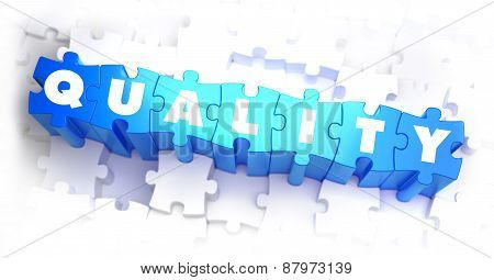 Quality - Text on Blue Puzzles.