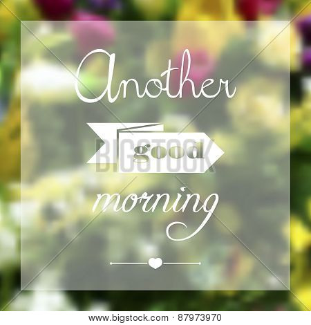 Blurred template backdrop with place for you text. Greeting card, floral theme.