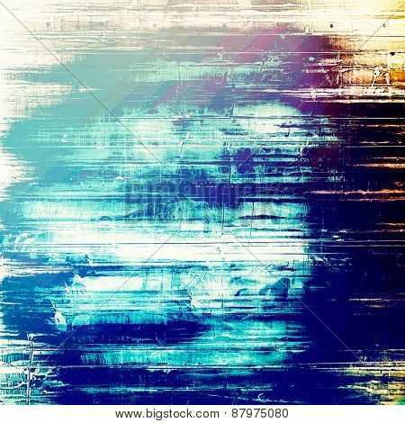 Old texture or antique background. With different color patterns: purple (violet); blue; yellow (beige); cyan