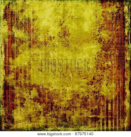Abstract distressed grunge background. With different color patterns: yellow (beige); brown; green