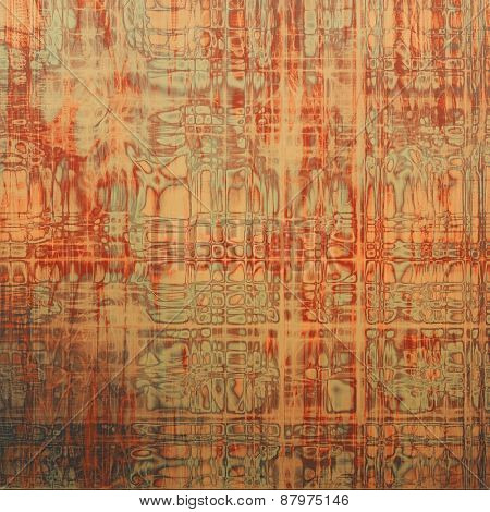 Beautiful antique vintage background. With different color patterns: yellow (beige); red (orange); brown; gray