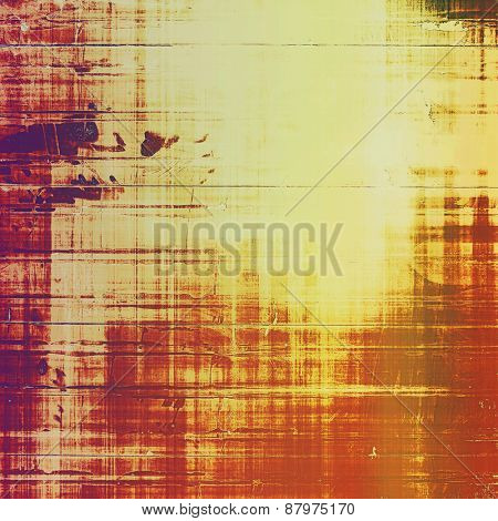 Abstract grunge background of old texture. With different color patterns: purple (violet); yellow (beige); red (orange); brown