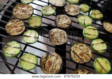 Fried Vegetables On The Grill