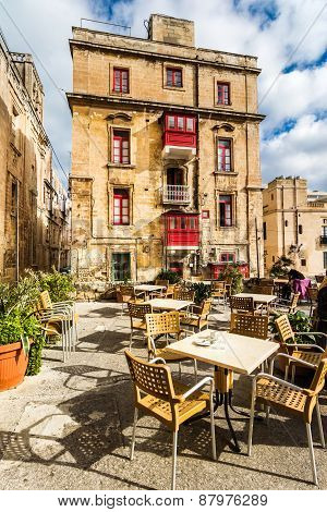 Street cafe in Malta
