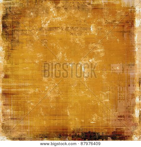 Old grunge background with delicate abstract texture and different color patterns: yellow (beige); brown