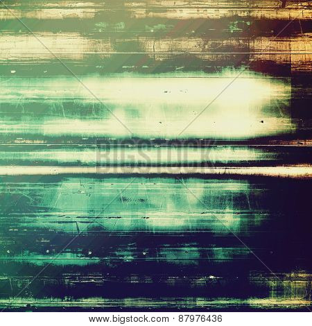 Vintage old texture for background. With different color patterns: blue; cyan; brown; green
