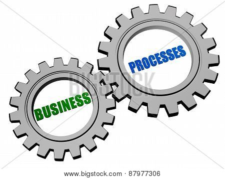 Business Processes In Silver Grey Gears