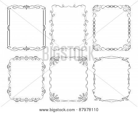 6 Rectangular Decorative Frames