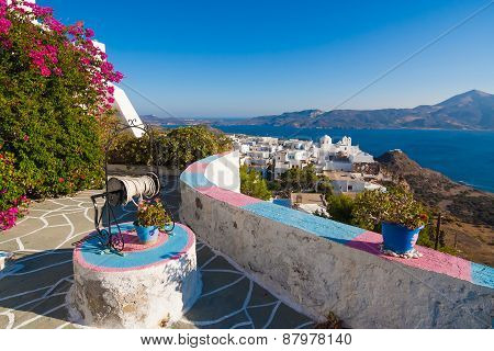 Typical Cycladic Architecture, Plaka Village, Milos Island, Cyclades, Greece