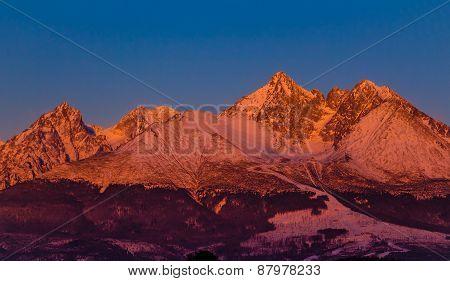 Sunrise In High Tatra Mountains - Slovakia