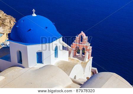 Oia Church, Santorini Island, Cyclades, Greece