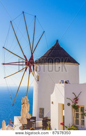 Oia Windmill, Santorini Island, Greece