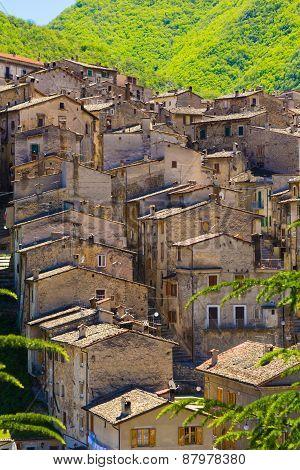 Medieval Scanno Village, Abruzzo, Italy