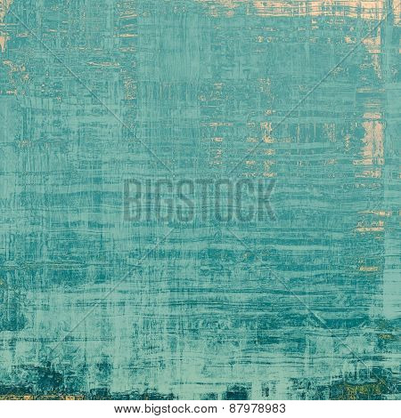 Old texture as abstract grunge background. With different color patterns: blue; yellow (beige); cyan