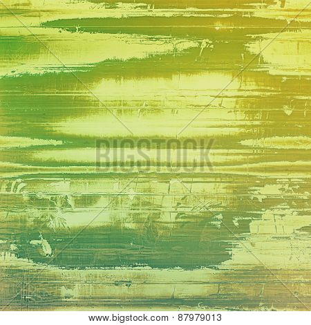 Abstract distressed grunge background. With different color patterns: yellow (beige); gray; green
