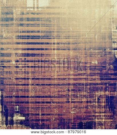 Abstract distressed grunge background. With different color patterns: purple (violet); blue; brown; gray
