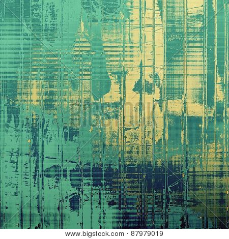 Designed grunge texture or retro background. With different color patterns: blue; yellow (beige); cyan; green