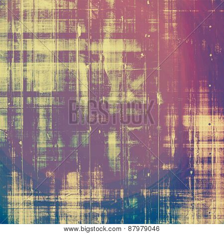 Abstract grunge background of old texture. With different color patterns: purple (violet); blue; yellow (beige); pink