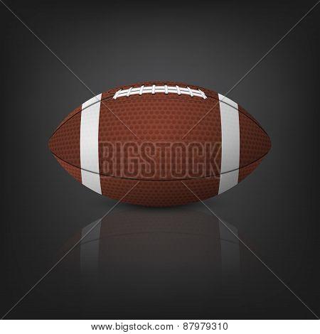 American Football Ball. Vector Eps10 Illustration.