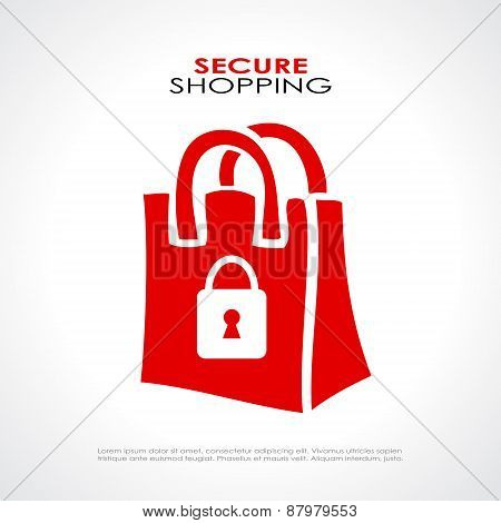 Secure shopping symbol
