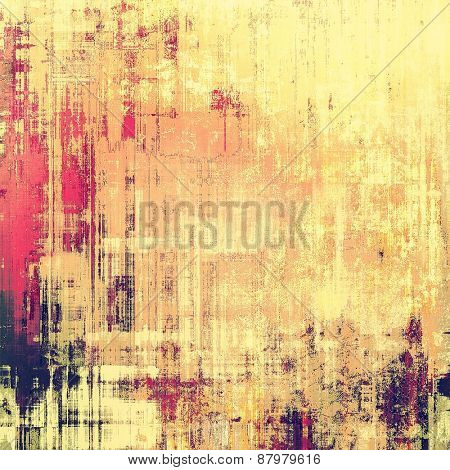 Grunge texture. With different color patterns: purple (violet); yellow (beige); pink