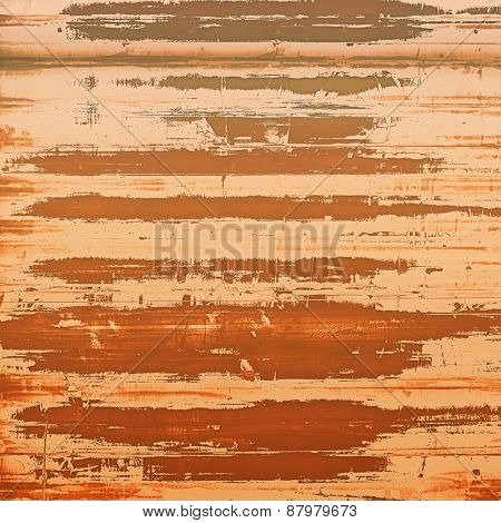 Abstract grunge background with retro design elements and different color patterns: yellow (beige); red (orange); brown