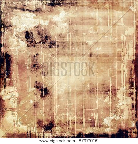 Abstract grunge textured background. With different color patterns: yellow (beige); brown; gray; black