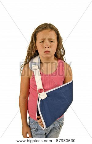 Little Girl In Pain From Being Injured