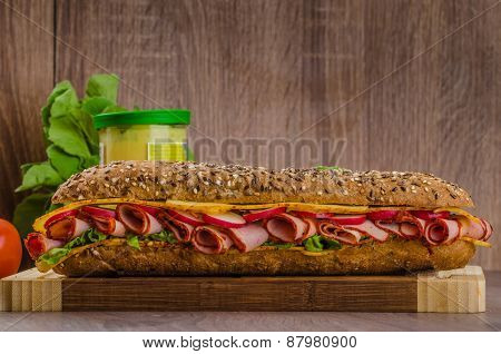Wholemeal Baguette With Smoked Rump