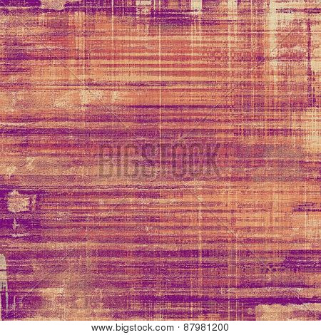 Colorful vintage texture. With different color patterns: purple (violet); yellow (beige); red (orange); pink