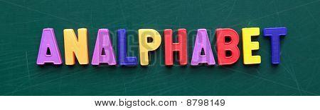 Analphabet - Illiterate
