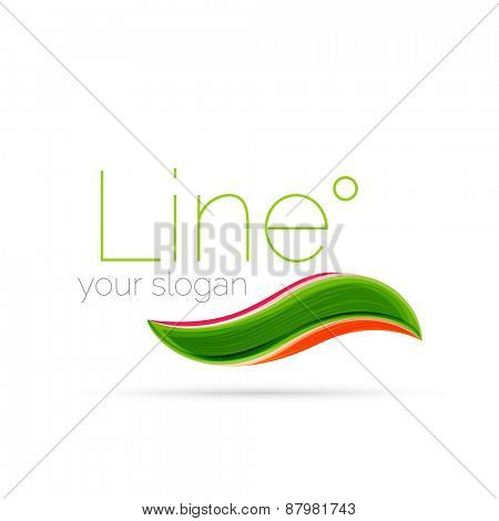 Abstract wave line logo. Vector illustration