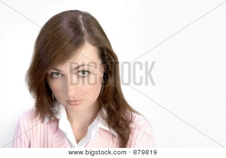 Offended Young Woman Portrait
