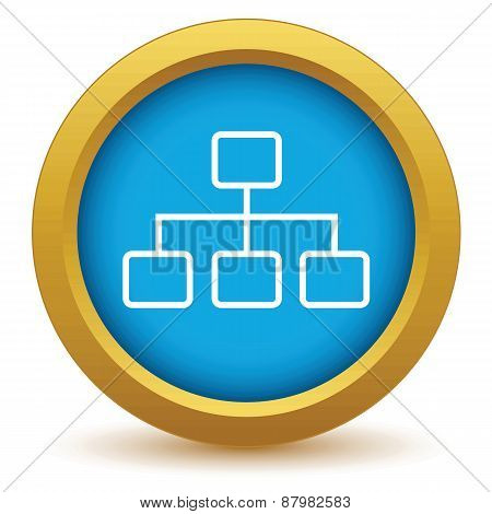 Gold structure icon