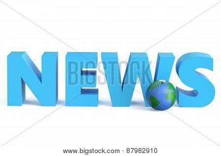 News - 3D With Globe