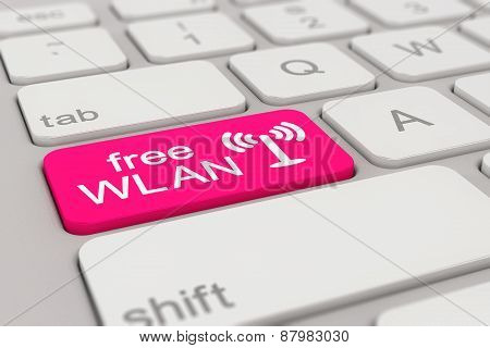 Keyboard - Free Wlan - Magenta