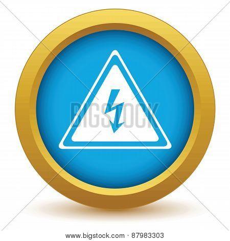 Gold voltage icon