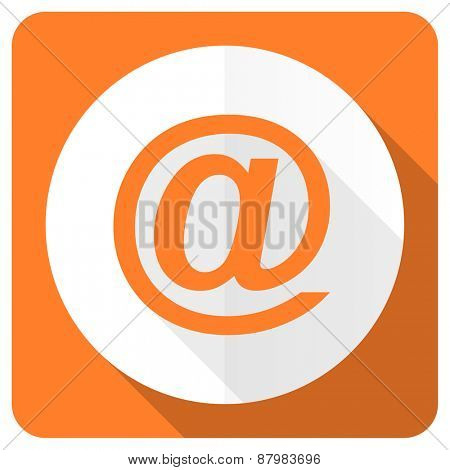 email orange flat icon