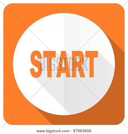 start orange flat icon