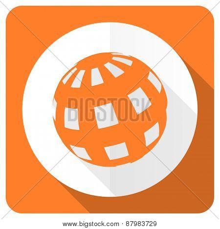 earth orange flat icon
