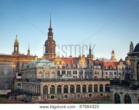 Germany. Ancient Dresden Zwinger.