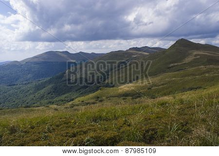 Hills Of Bieszczady Mountains