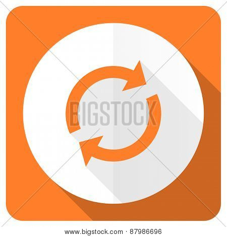 reload orange flat icon refresh sign