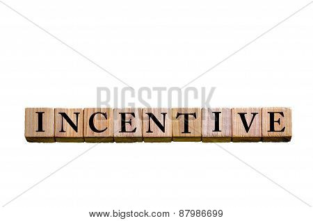 Word Incentive Isolated On White Background