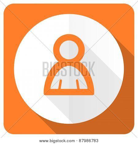 person orange flat icon